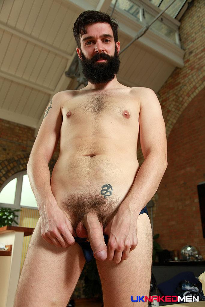 frontal nude male model