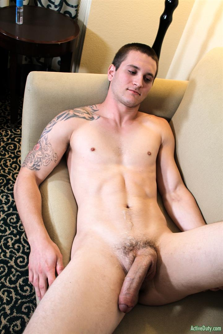 Active-Duty-Allen-Lucas-Army-Private-Jerking-Off-Big-Uncut-Cock-Amateur-Gay-Porn-14 US Army Private Jerking His Big Uncut Cock