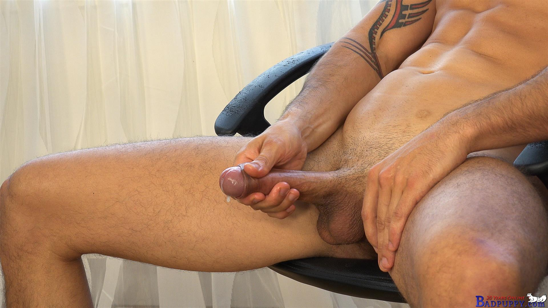 Badpuppy-Milan-Pis-Straight-Guy-With-Big-Uncut-Cock-Masturbating-Amateur-Gay-Porn-21 Straight Italian Banker Masturbating His Big Uncut Cock