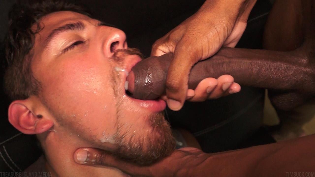 Treasure Island Media TimSUCK Tecate and Javin Big Black Uncut Cock Sucking Amateur Gay Porn 48 Treasure Island Media: Gagging On A 13 Inch Big Black Uncut Cock