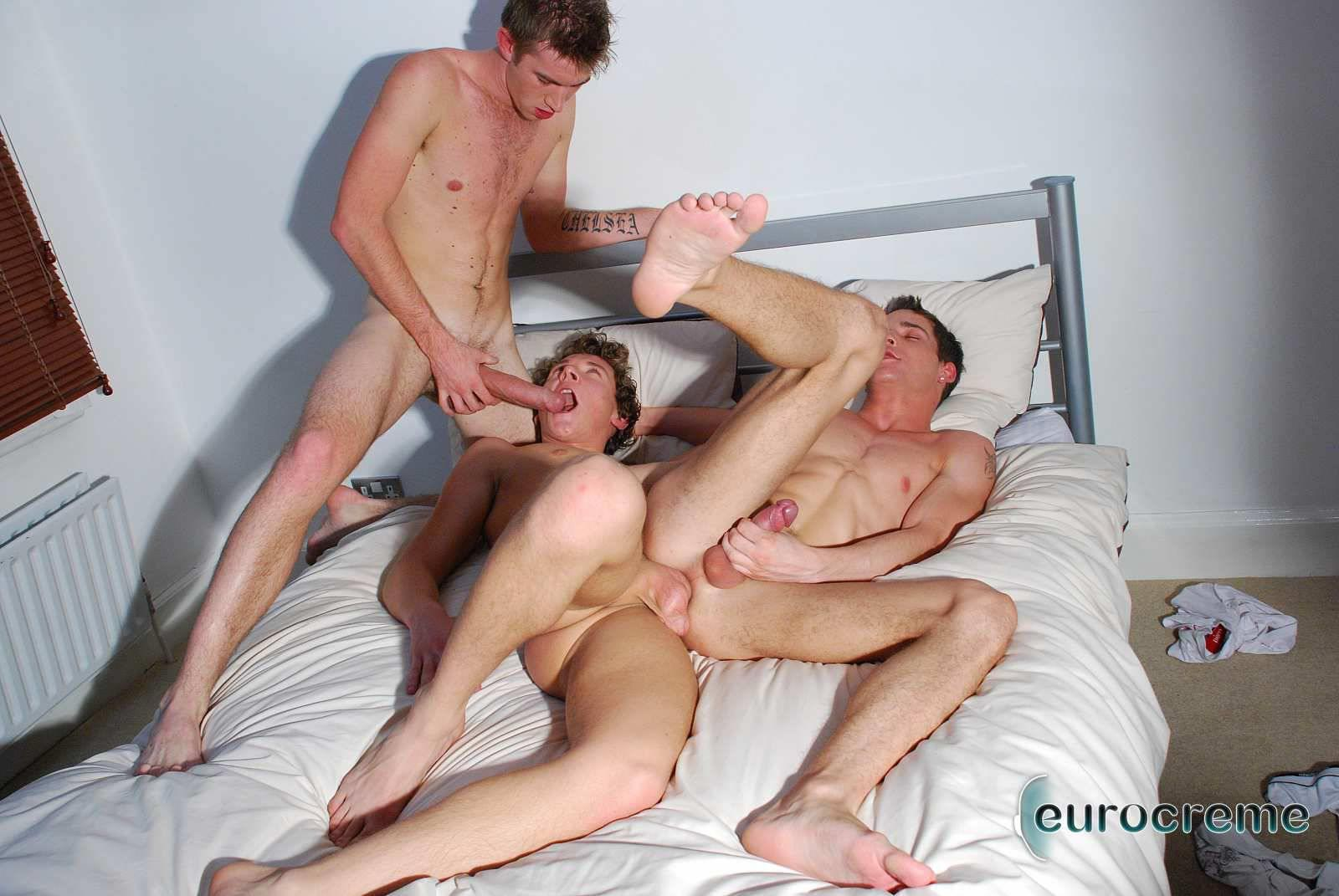 Eurocreme Matt Hughes and Alex Stevens and Philipe Delvaux Twinks Fucking Amateur Gay Porn 14 Matt Hughes Uses His 11 Inch Uncut Cock On Two Tricks