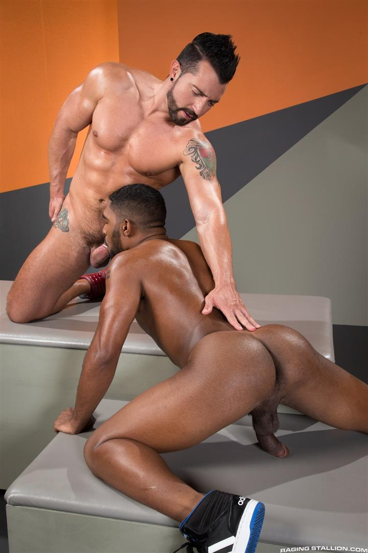 Raging Stallion Jimmy Durano and XL Interracial Gay Sex Video Free 09 Jimmy Durano Fucks XLs Black Ass With His Big Fat Cock