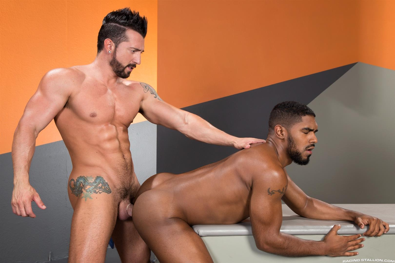 Raging-Stallion-Jimmy-Durano-and-XL-Interracial-Gay-Sex-Video-Free-12 Jimmy Durano Fucks XL's Black Ass With His Big Fat Cock